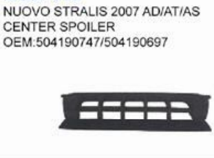 IVECO NUOVO STRALIS 2007 AD/AT/AS CENTER SPOILER oem 504190747/504190697