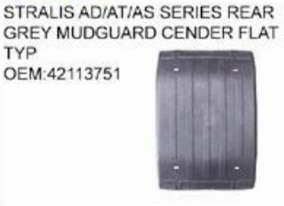 IVECO STRALIS AD/AT/AS SERIES REAR GREY MUDGUARD CENDER FLAT TYPE 42113751