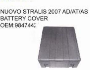 IVECO NUOVO STRALIS 2007 AD/AT/AS BATTERY COVER oem 9847442